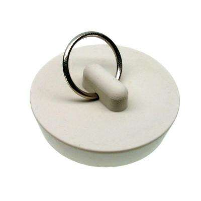 1-5/8 in. Rubber Drain Stopper in White