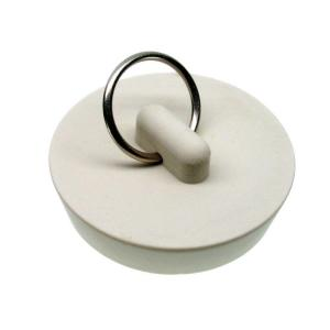 Danco 1-5/8 inch Rubber Drain Stopper in White by DANCO