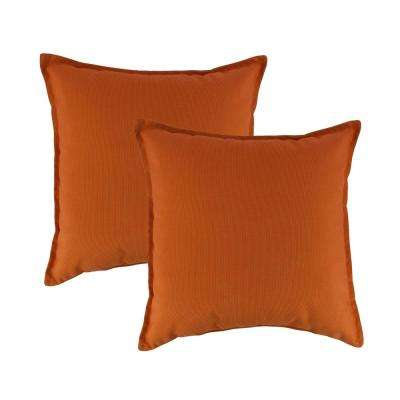 Canvas Tangerine 20 in. Outdoor Pillow (set of 2)