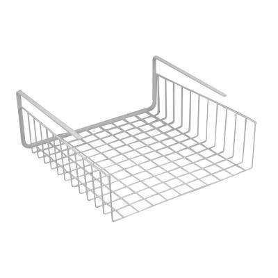 White Under Shelf and Compartment Wire Basket