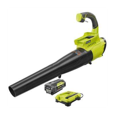 Reconditioned 155 MPH 300 CFM 40-Volt Lithium-Ion Cordless Jet Fan Blower - 2.6 Ah Battery and Charger Included