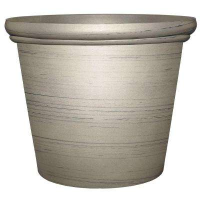 Essex 11.75 in. x 9.6 in. Silver Resin Planter