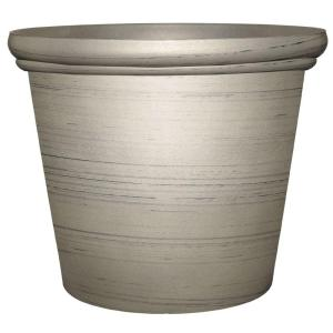 Essex 11.75 inch x 9.6 inch Silver Resin Planter by