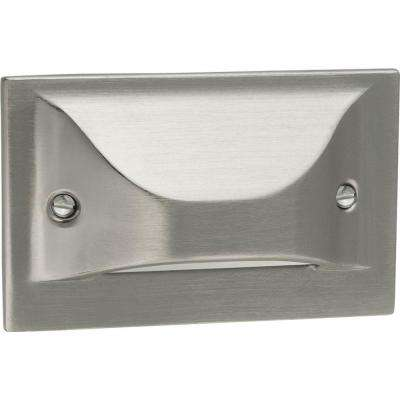 1-Light Brushed Nickel LED Step Light/Wall Light