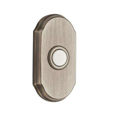 Wired Arch Bell Button - Matte Antique Nickel