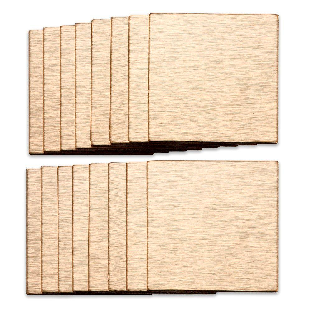 Aspect 3 in. x 3 in. Metal Backsplash Tile in Course Champagne (16-Pack)-DISCONTINUED