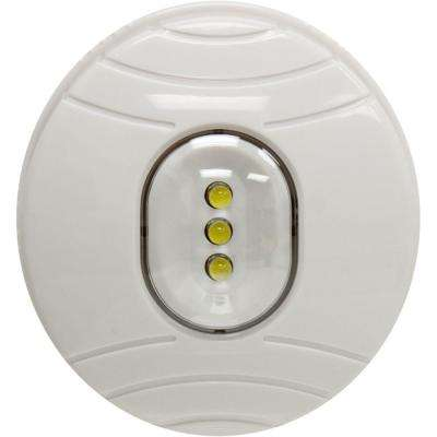LED White Battery Operated Oval Tap Light
