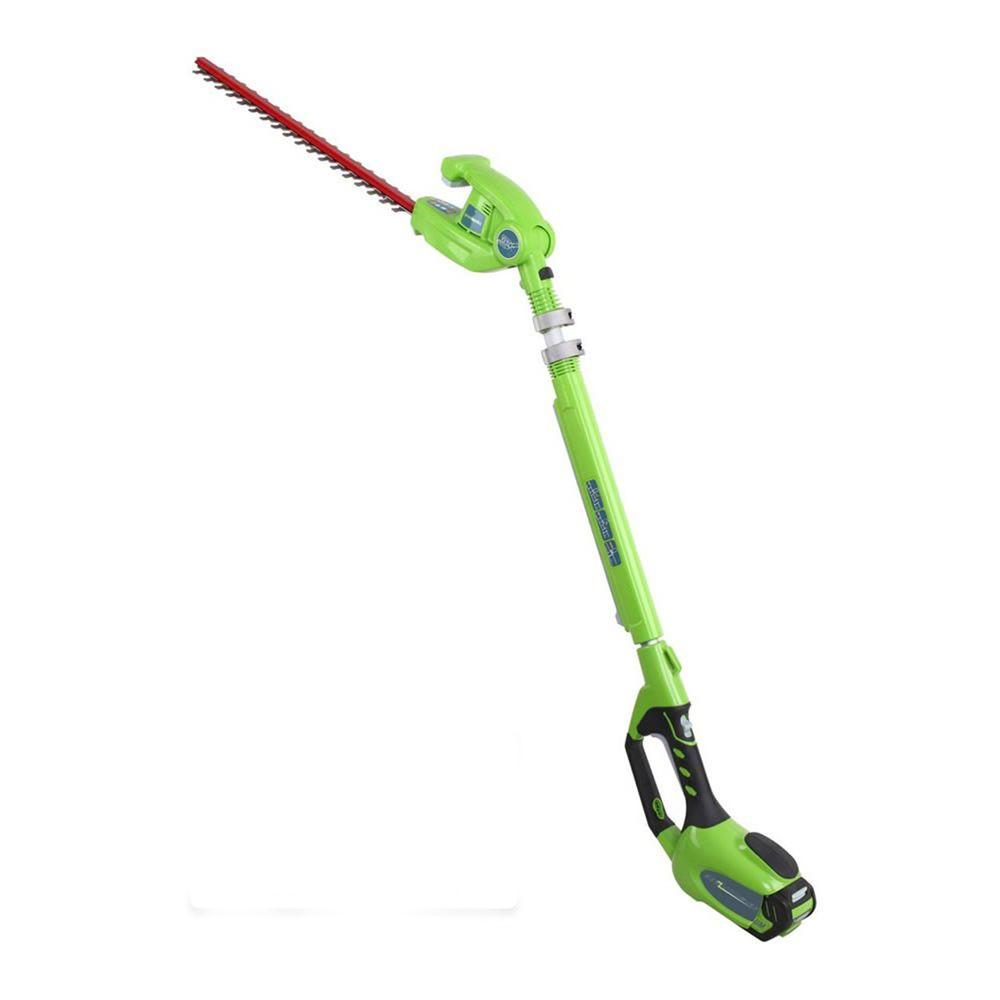 G-MAX 20 in. 40-Volt Electric Cordless Extended Reach Hedge Trimmer -