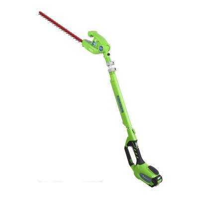 G-MAX 20 in. 40-Volt Electric Cordless Extended Reach Hedge Trimmer - 2.0 Ah Battery and Charger Included
