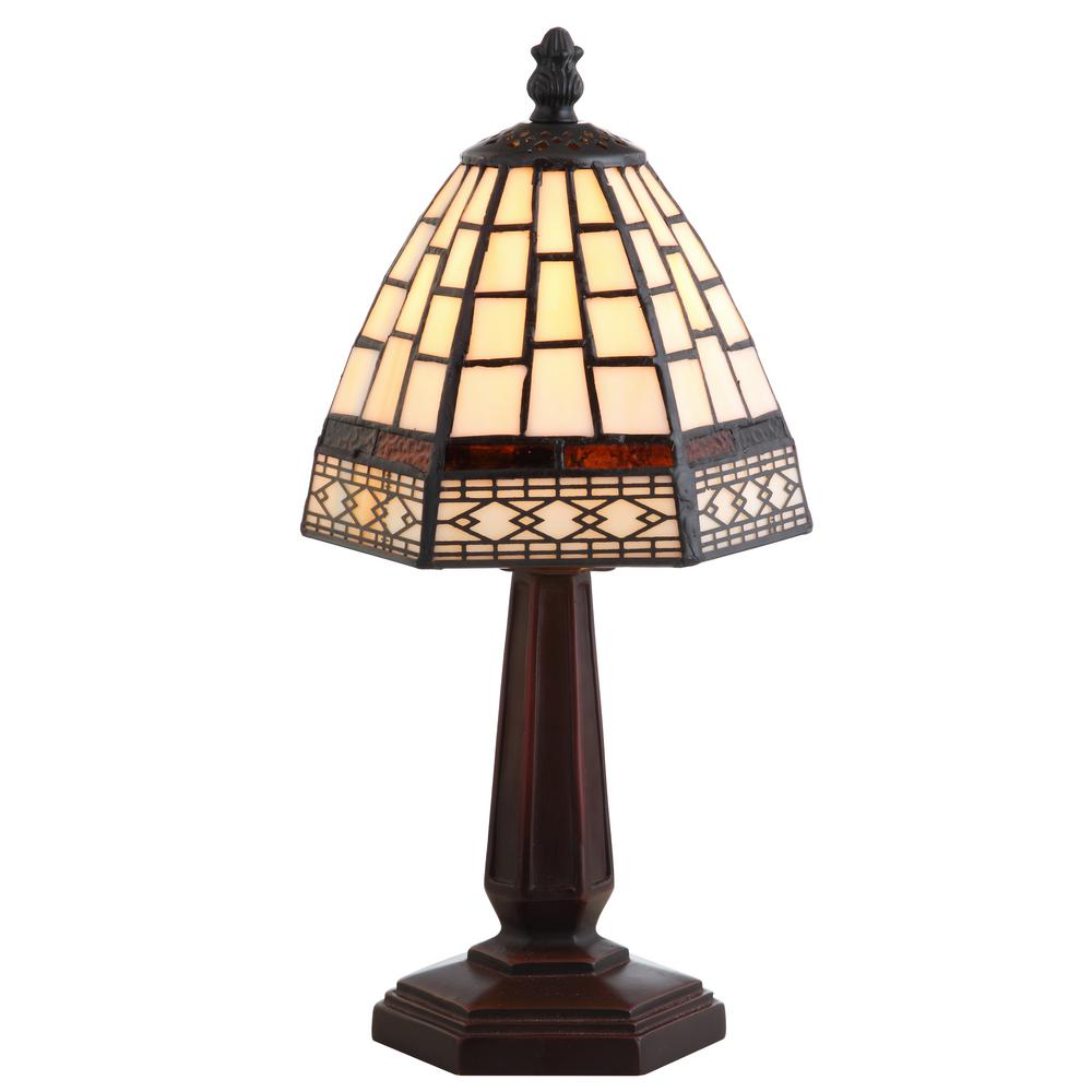 Carter Tiffany-Style 12 in. Bronze Table Lamp