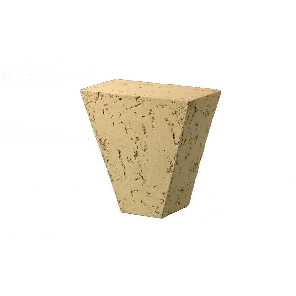 9-15/16 in. x 9-15/16 in. x 5-3/32 in. Polyurethane Stone Texture Keystone