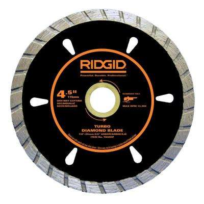 4-1/2 in. Turbo Diamond Blade