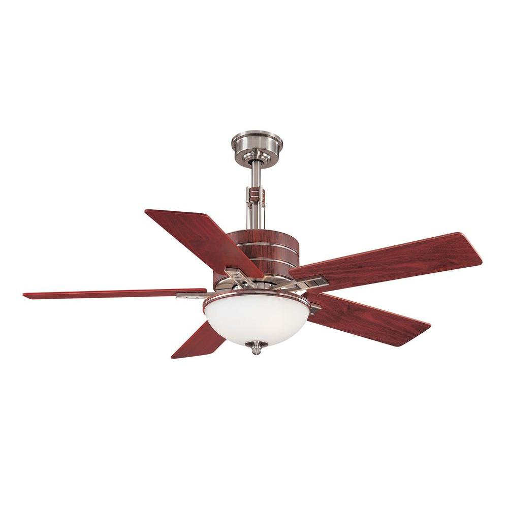 Hampton Bay Carlsbad 52 in. Indoor Brushed Nickel Ceiling Fan with Light Kit and Remote Control