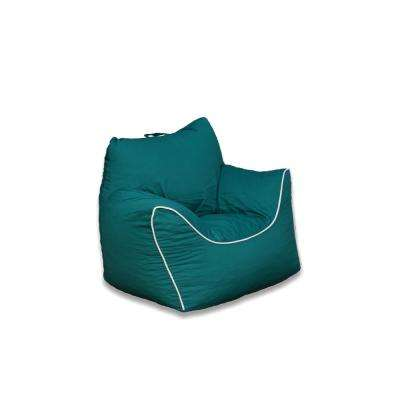 Emerald Green Poly-Cotton Structured Bean Bag