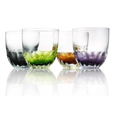 Assorted Color Solar Double Old Fashion Glass (Set of 4)