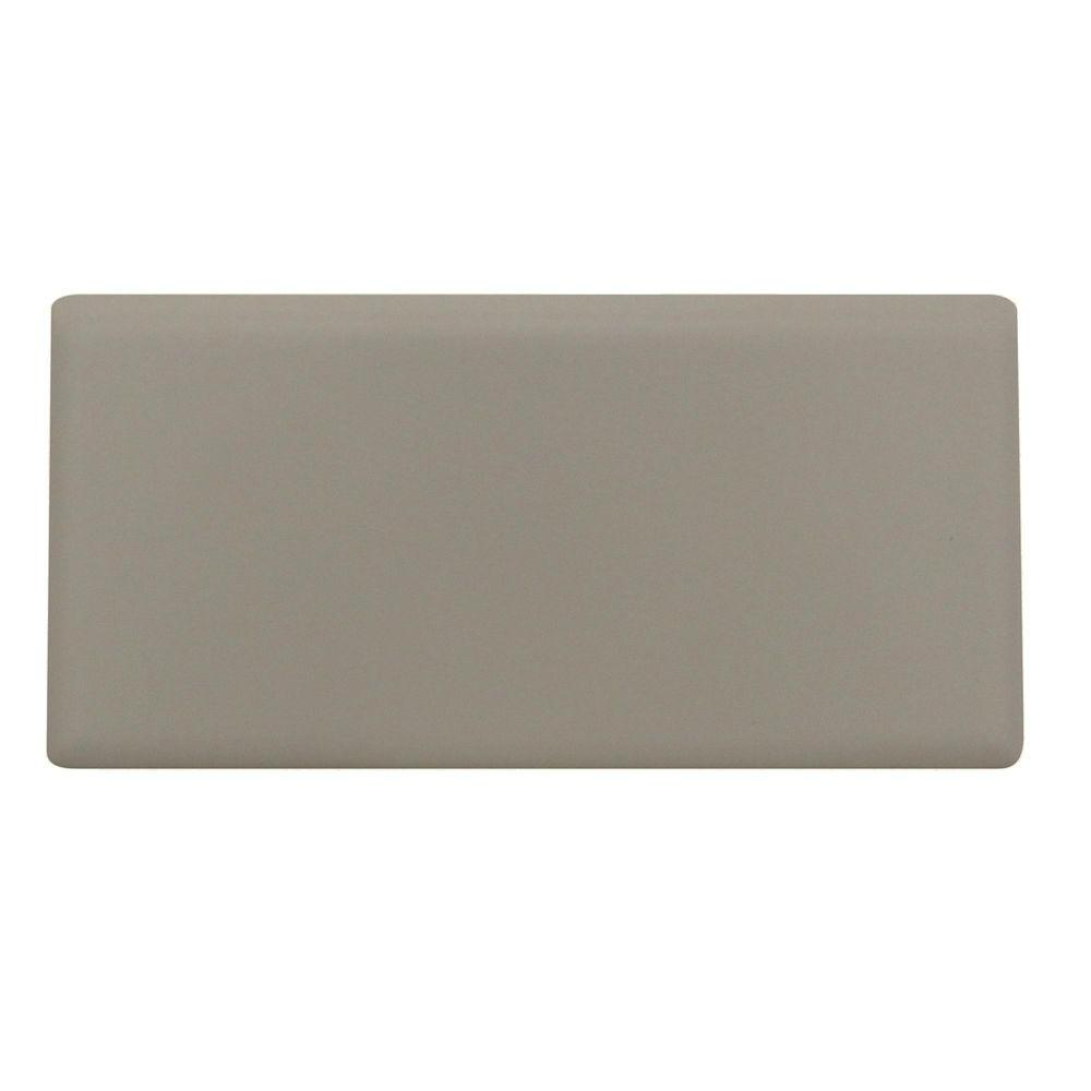 Rittenhouse Square Matte Almond 3 in. x 6 in. Ceramic Bullnose