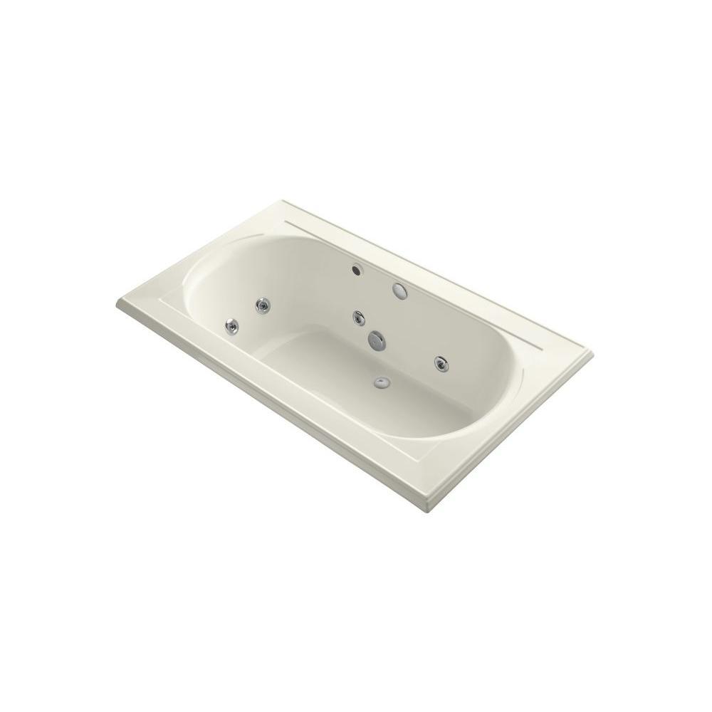 KOHLER Memoirs 6 ft. Rectangular Drop-in Whirlpool Tub in Biscuit