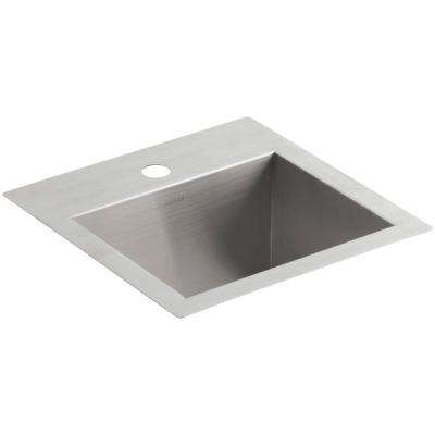 Vault 15 in. x 15 in. x 9.3125 in. Stainless Steel Bar Sink