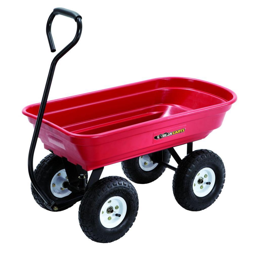 Gorilla Carts 400 lb. Poly Wagon by Gorilla Carts