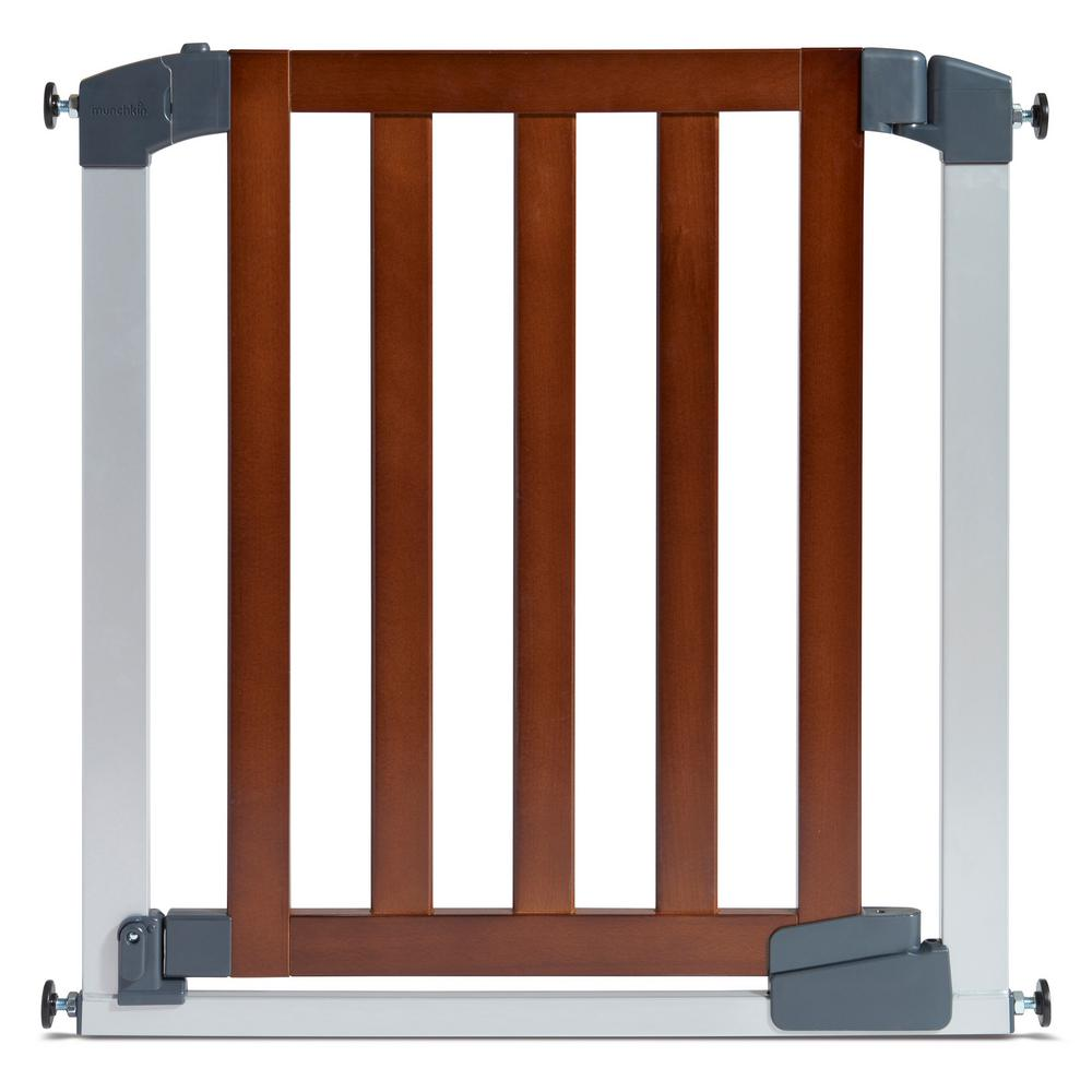 munchkin  in auto close modern baby gate  the home depot - auto close modern baby gate