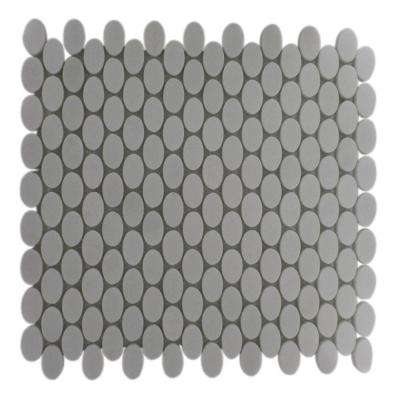 Orbit White Thassis Ovals 12 in. x 12 in. x 8 mm Marble Mosaic Floor and Wall Tile
