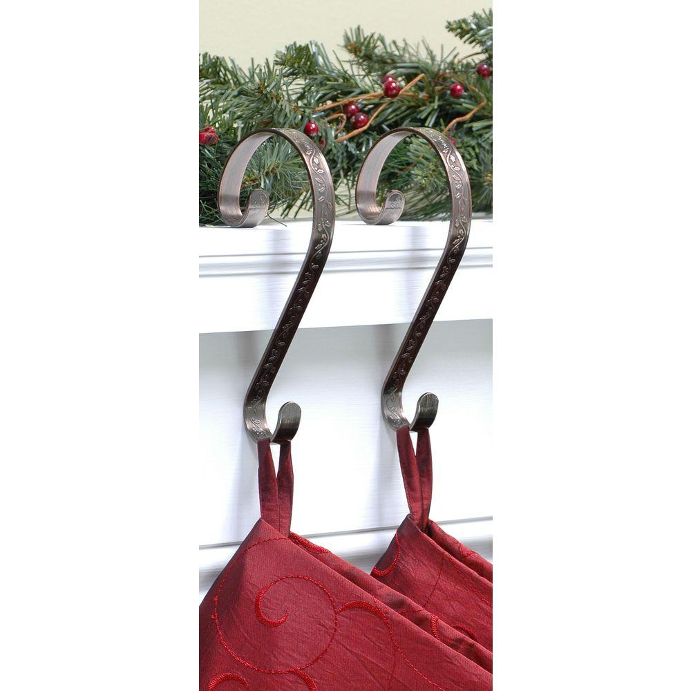 haute decor stocking scrolls stocking holders bronze embossed