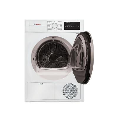 500 Series 24 in. 4 cu. ft. 240-Volt White with Silver Accents Electric Ventless Compact Dryer, ENERGY STAR