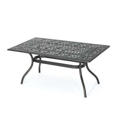 Vienna Rectangular Cast Aluminum Outdoor Dining Table