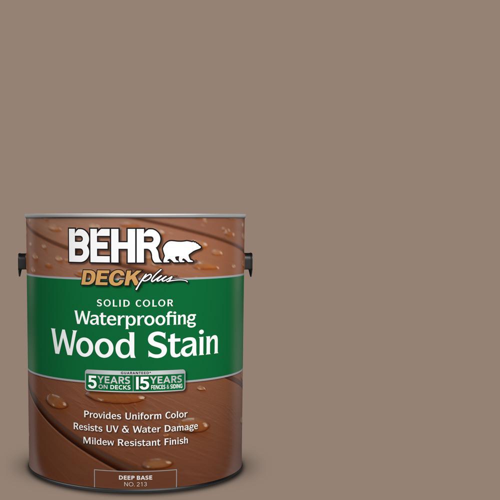 1 gal. #N230-5 Dry Brown Solid Color Waterproofing Exterior Wood Stain