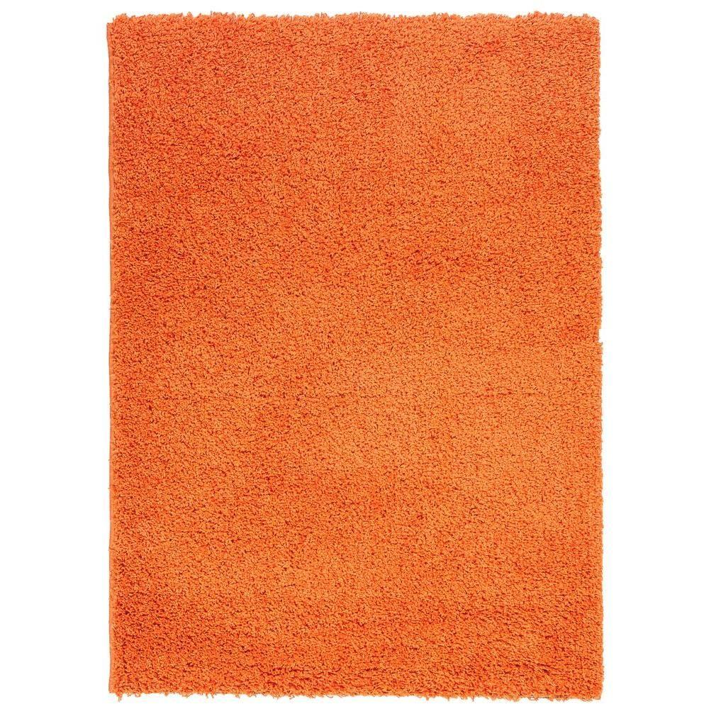 Well Woven Madison Shag Plain Orange 5 Ft X 7 Ft 2 In