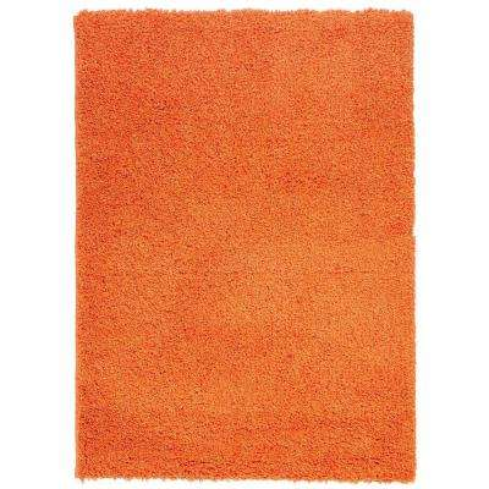 Plush Solid Shaggy Orange 5 ft. x 7 ft. Shag Area Rug