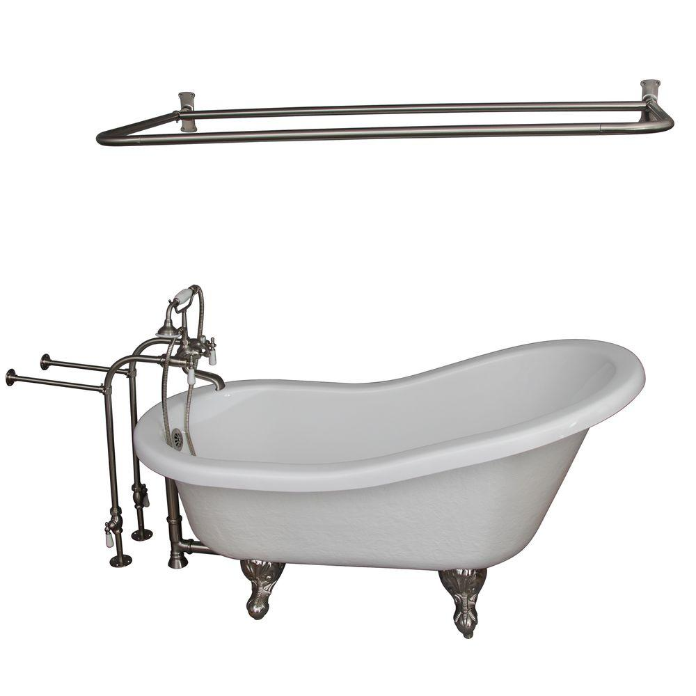 Ove decors 5 6 ft acrylic freestanding flatbottom non for 6 ft tub