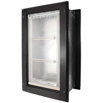 12 in. x 23 in. Extra Large Single Flap for Walls with Dark Bronze Aluminum Frame