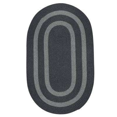 Paige Charcoal 6 ft. x 6 ft. Braided Round Area Rug