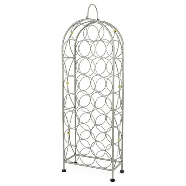 Oenophilia Bourdeaux Chateau 23-Bottle Silver Floor Wine Rack 010010