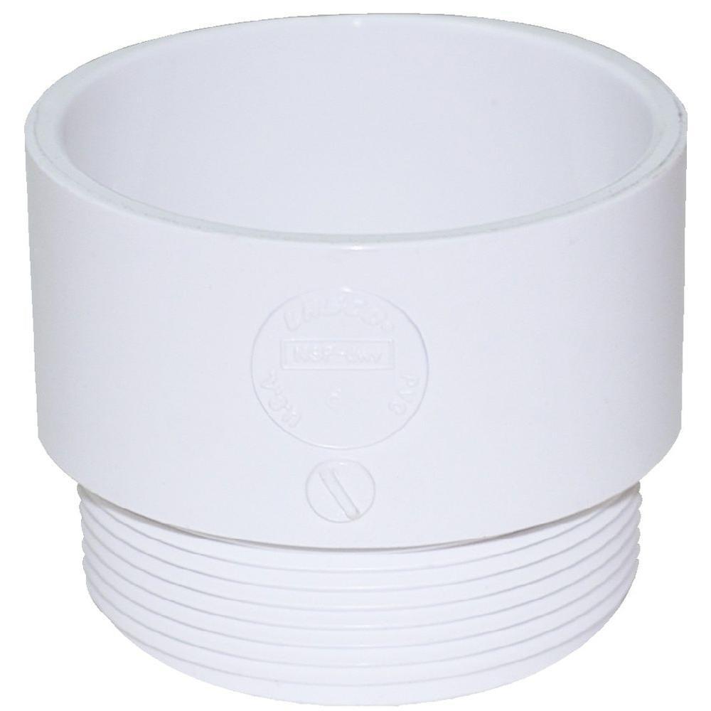 Vassallo 1-1/4 in. PVC Hub x Hub Male P-Trap Adapter