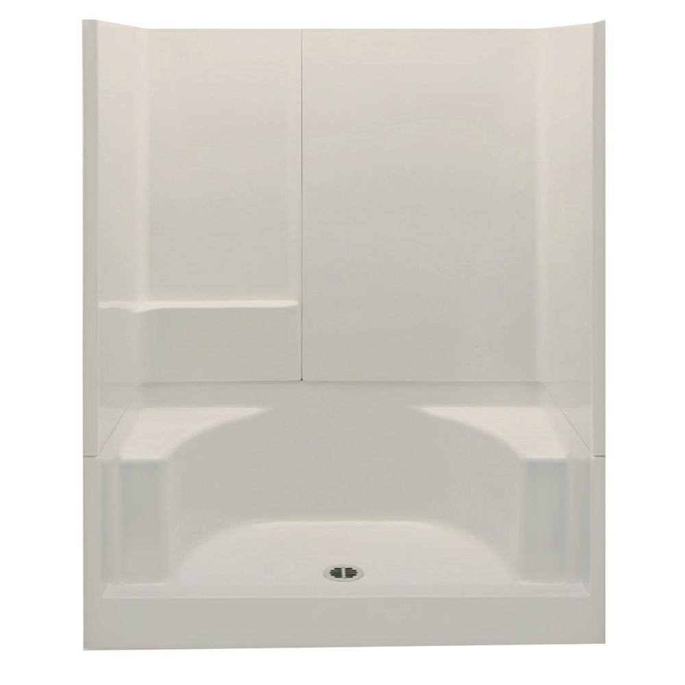 Aquatic Remodeline Smooth Wall 60 in. x 34 in. x 72 in. 3-Piece ...