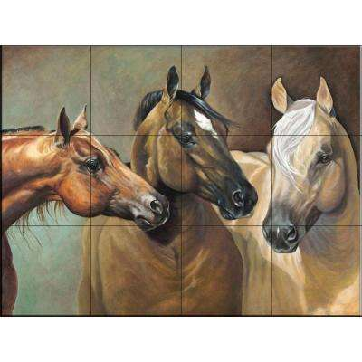 Big, Blonde and Beautiful 24 in. x 18 in. Ceramic Mural Wall Tile