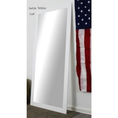 Large White Composite Modern Mirror (60 in. H X 21 in. W)
