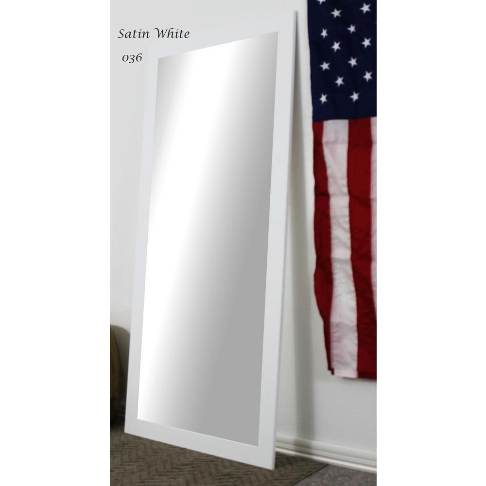 63.5 in. x 25.5 in. Satin White Full Body and Floor