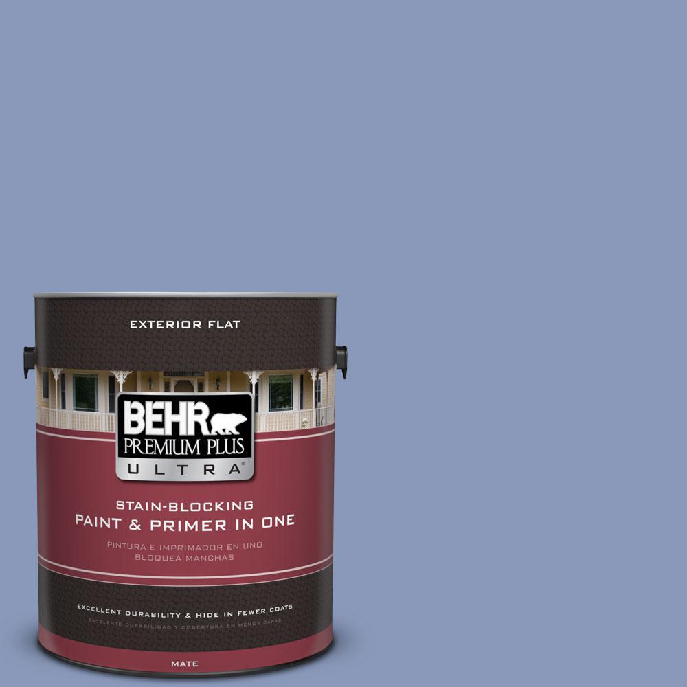 1-gal. #610D-5 Blueberry Popover Flat Exterior Paint