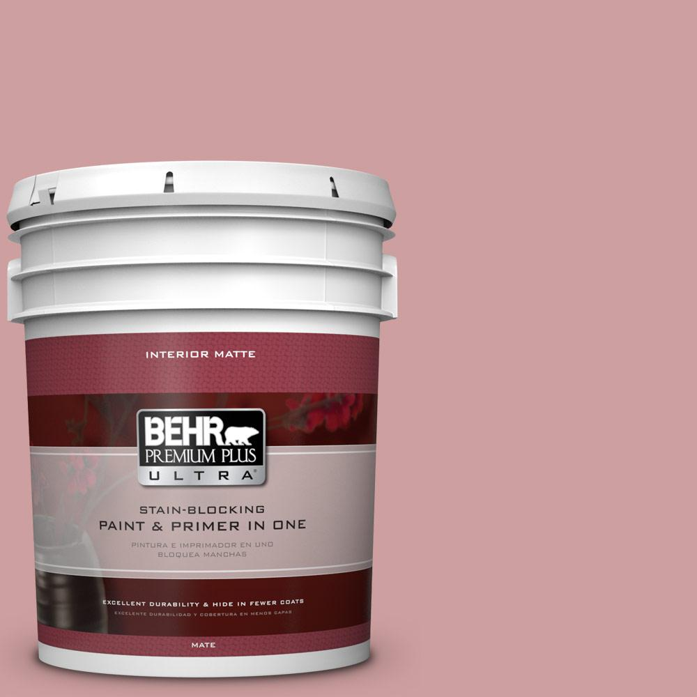 5 gal. #150E-3 Calico Rose Flat/Matte Interior Paint