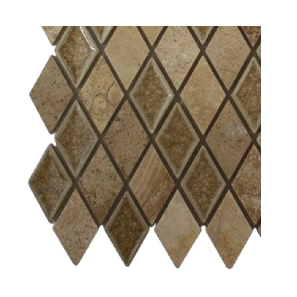 Splashback Tile Roman Selection Side Saddle Diamond Glass Floor ...