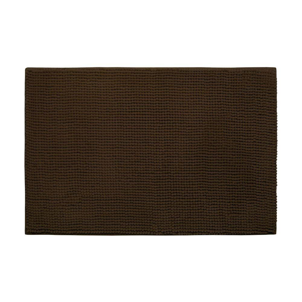 Bouncecomfort Plush Chenille Chocolate 20 In X 30 In