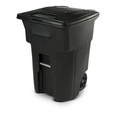 96 Gal. Blackstone Trash Can with Wheels and Attached Lid