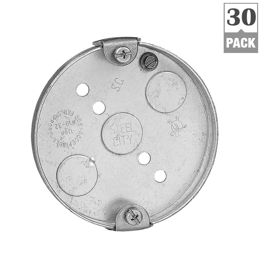 Electrical Wiring Pancake Box Data Diagram For Outlet Steel City 4 In 6 Cu Metal Round Case Of 30 Kitchen