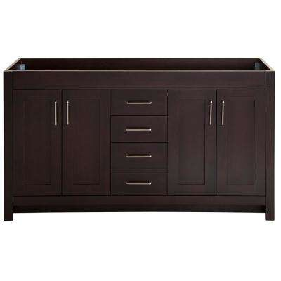 Westcourt 60 in. W x 21.69 in. D x 34.25 in. H Bath Vanity Cabinet Only in Chocolate