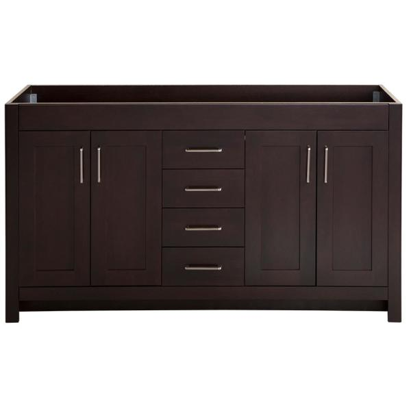 Westcourt 60 in. W x 21 in. D x 34 in. H Bath Vanity Cabinet Only in Chocolate