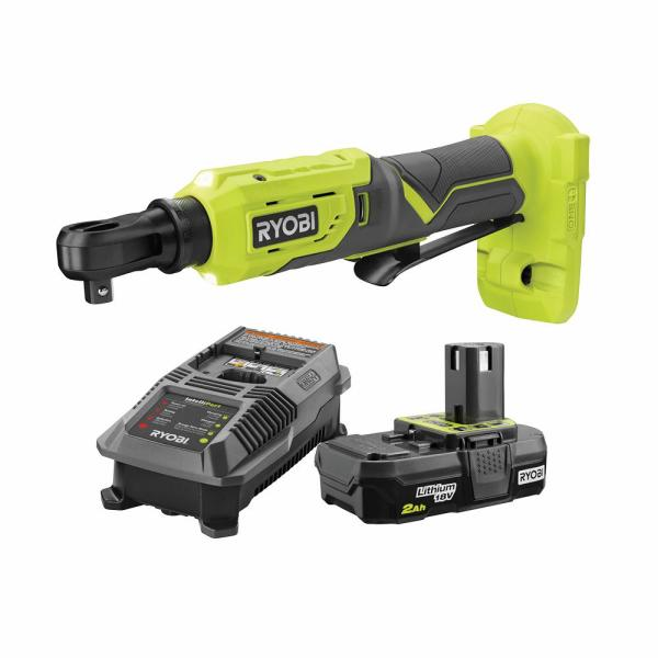 18-Volt ONE+ Cordless 3/8 in. 4-Position Ratchet and 2.0 Battery and Charger Upgrade Kit
