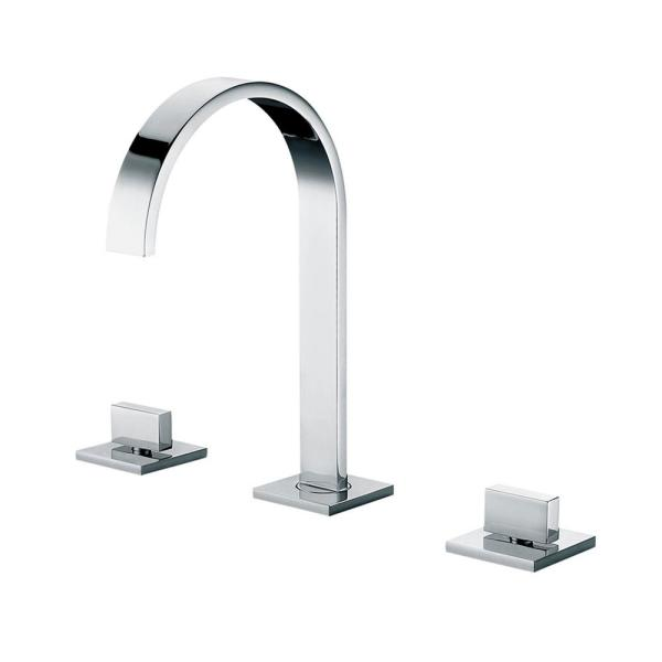 AB1336-PC 8 in. Widespread 2-Handle Luxury Bathroom Faucet in Polished Chrome
